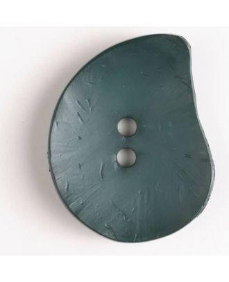 Modeknopf - Größe: 50mm - Farbe: grünModeknopf Tropfenform, Strukturoberfläche, 2 Loch -  - Art.Nr. 390120