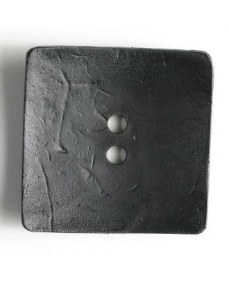 Modeknopf quadratisch, Strukturoberfläche, 2 Loch - Größe: 60mm - Farbe: schwarz - Art.Nr. 410043