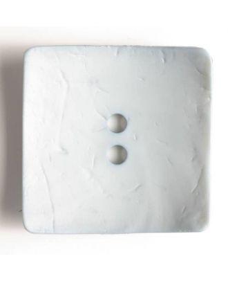 Modeknopf quadratisch, Strukturoberfläche, 2 Loch -  Größe: 60mm - Farbe: blau - Art.Nr. 410049