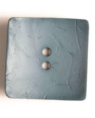 Modeknopf quadratisch, Strukturoberfläche, 2 Loch - Größe: 60mm - Farbe: blau - Art.Nr. 410050