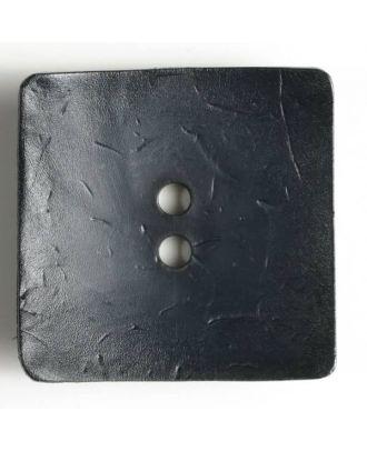 Modeknopf quadratisch, Strukturoberfläche, 2 Loch -  Größe: 60mm - Farbe: marine blau - Art.Nr. 410051