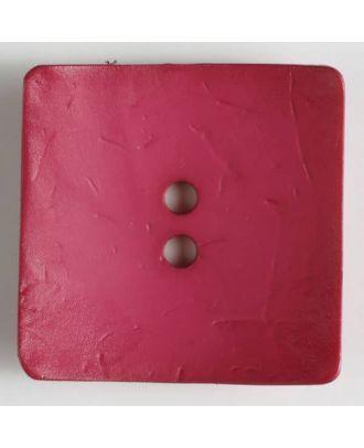 Großer Knopf, rechteckig - Größe: 60mm - Farbe: pink - Art.Nr. 410122