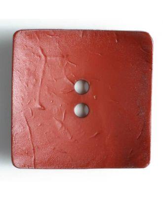 Modeknopf quadratisch, Strukturoberfläche, 2 Loch - Größe: 60mm - Farbe: rot - Art.Nr. 410055