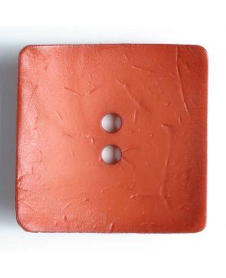 Modeknopf quadratisch, Strukturoberfläche, 2 Loch -  Größe: 60mm - Farbe: orange - Art.Nr. 410057