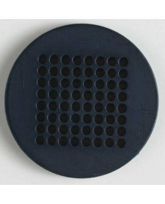 Stickknopf mit 64 Löchern zur phantasievollen Gestaltung -  Größe: 40mm - Farbe: marine blau - Art.Nr. 380148