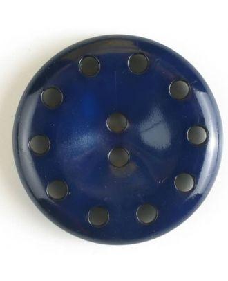 Kunststoffknopf mit 10 Löchern für freie Fantasie -  Größe: 28mm - Farbe: marineblau - Art.Nr. 350404