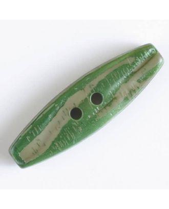 Knebelknopf mit  2 Löchern - Größe: 50mm - Farbe: grün - Art.Nr. 400061