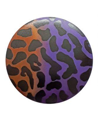 Polyamidknopf Animal Print mit Öse - Größe: 28mm - Farbe: lila - Art.Nr. 363800