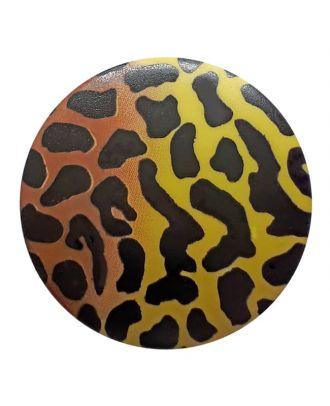 Polyamidknopf Animal Print mit Öse - Größe: 28mm - Farbe: grün - Art.Nr. 363802