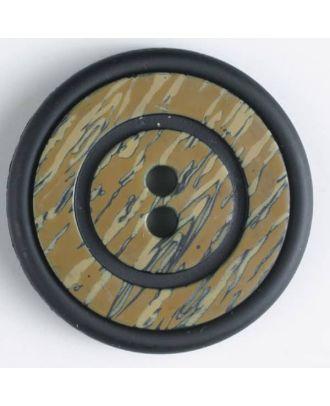 Kunststoffknopf mit ringförmiger Vertiefung mit 2 Löchern -  Größe: 34mm - Farbe: schwarz - Art.Nr. 370350