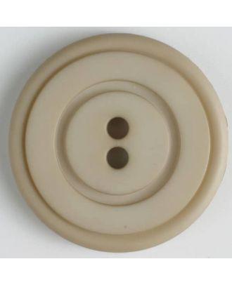 Kunststoffknopf mit ringförmiger Vertiefung mit 2 Löchern - Größe: 34mm - Farbe: beige - Art.Nr. 374516