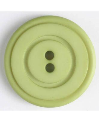 Kunststoffknopf mit ringförmiger Vertiefung mit 2 Löchern - Größe: 34mm - Farbe: grün - Art.Nr. 374517