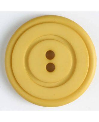 Kunststoffknopf mit ringförmiger Vertiefung mit 2 Löchern - Größe: 34mm - Farbe: gelb - Art.Nr. 374518