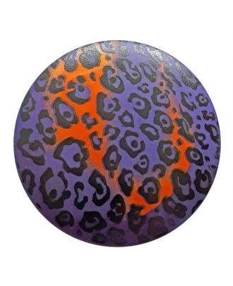Polyamidknopf Animal Print mit Öse - Größe: 28mm - Farbe: lila - Art.Nr. 363808