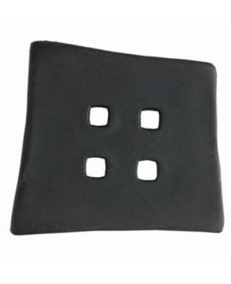 Kunststoffknopf Kopfkissenform mit 4 quadratischen Löchern - Größe: 55mm - Farbe: schwarz - Art.Nr. 400085