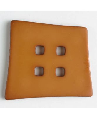 Kunststoffknopf Kopfkissenform mit 4 quadratischen Löchern - Größe: 55mm - Farbe: beige - Art.Nr. 405500