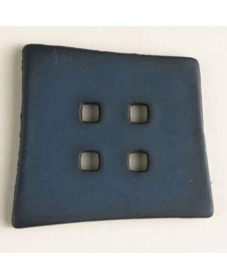 Kunststoffknopf Kopfkissenform mit 4 quadratischen Löchern - Größe: 55mm - Farbe: marineblau - Art.Nr. 400086