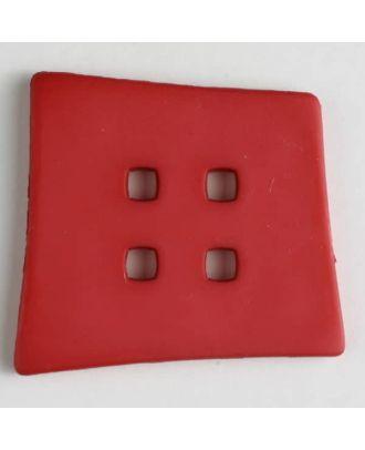 Kunststoffknopf Kopfkissenform mit 4 quadratischen Löchern - Größe: 55mm - Farbe: pink - Art.Nr. 405505