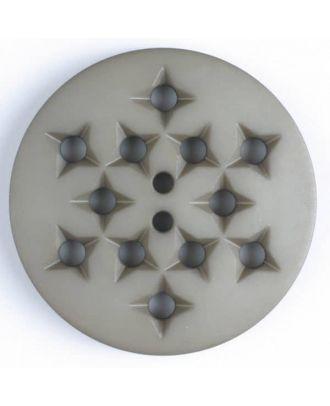 Kunststoffknopf mit 12 sternförmigen Vertiefungen mit 2 Löchern -  Größe: 32mm - Farbe: beige - Art.Nr. 376500