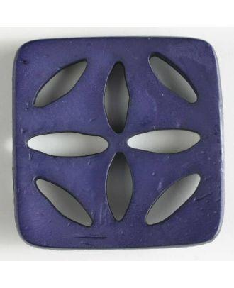 Kunststoffknopf, quadratisch, mit 8 zapfenförmigen Löchern  - Größe: 60mm - Farbe: lila - Art.Nr. 440073