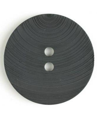 großer Kunststoffknopf mit ungewöhnlichem Streifenmotiv mit 2 Löchern - Größe: 54mm - Farbe: schwarz - Art.Nr. 450084