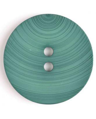 großer Kunststoffknopf mit ungewöhnlichem Streifenmotiv mit 2 Löchern - Größe: 54mm - Farbe: grün - Art.Nr. 450089