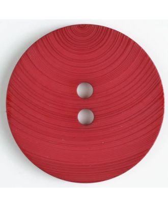großer Kunststoffknopf mit ungewöhnlichem Streifenmotiv mit 2 Löchern - Größe: 54mm - Farbe: rot - Art.Nr. 450090