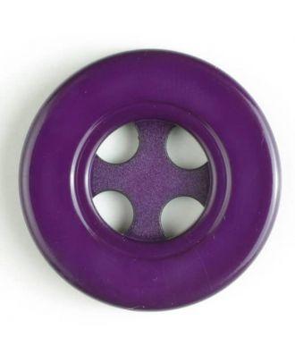 Kunststoffknopf mit 4 halbrunden Löchern -Größe: 40mm - Farbe: lila - Art.Nr. 400110