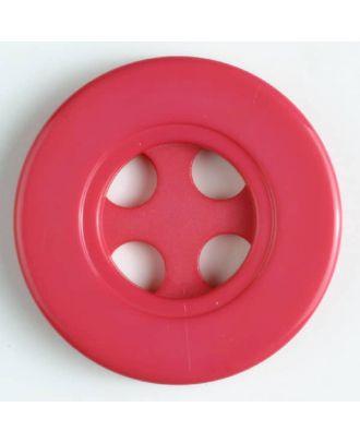 Kunststoffknopf mit 4 halbrunden Löchern - Größe: 40mm - Farbe: pink - Art.Nr. 400112