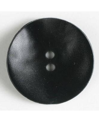 Kunststoffknopf, schlicht, mattglänzend, 2 Loch - Größe: 40mm - Farbe: schwarz - Art.Nr. 400115