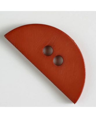 Kunststoffknopf, halbrund, 2 Loch -  Größe: 55mm - Farbe: braun - Art.Nr. 420060