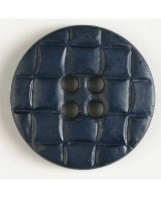 Kunststoffknopf, rund gitterartig eingekerbt - Größe: 20mm - Farbe: marineblau - Art.Nr. 261105
