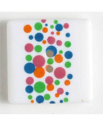 Kunststoffknopf, schlicht quadratisch -  - Größe: 25mm - Farbe: bedruckt - Art.Nr. 330693