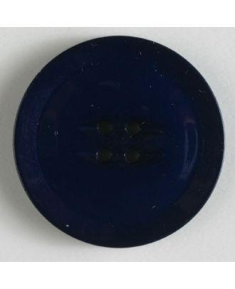 Kunststoffknopf schlicht mit erhobenem Rand mit 4 Löchern - Größe: 38mm - Farbe: marineblau - Art.Nr. 370498