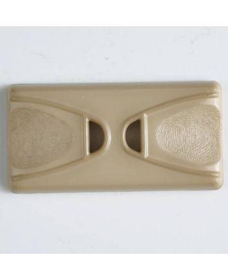 Kunststoffknopf Rechteck mit 2 Längslöchern - Größe: 45mm - Farbe: beige - Art.Nr. 400141