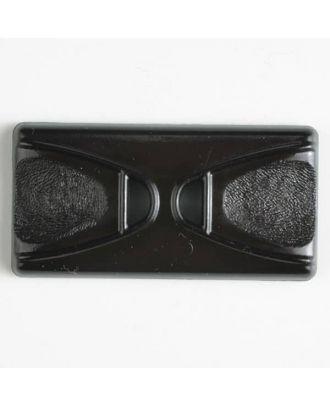 Kunststoffknopf Rechteck mit 2 Längslöchern - Größe: 45mm - Farbe: braun - Art.Nr. 400142