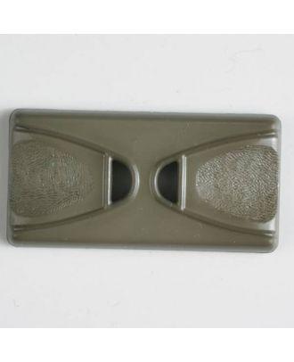 Kunststoffknopf Rechteck mit 2 Längslöchern - Größe: 45mm - Farbe: braun - Art.Nr. 400143