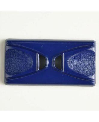 Kunststoffknopf Rechteck mit 2 Längslöchern - Größe: 45mm - Farbe: blau - Art.Nr. 400145