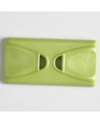 Kunststoffknopf Rechteck mit 2 Längslöchern - Größe: 45mm - Farbe: grün - Art.Nr. 400146