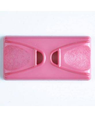 Kunststoffknopf Rechteck mit 2 Längslöchern - Größe: 45mm - Farbe: pink - Art.Nr. 400147