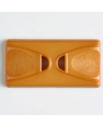 Kunststoffknopf Rechteck mit 2 Längslöchern - Größe: 45mm - Farbe: orange - Art.Nr. 400149