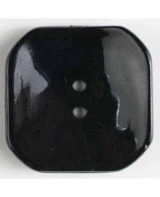 Kunststoffknopf Viereck mit 2 Löchern - Größe: 40mm - Farbe: schwarz - Art.Nr. 400161