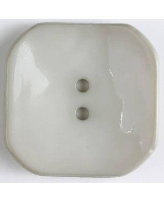 Kunststoffknopf Viereck mit 2 Löchern - Größe: 40mm - Farbe: beige - Art.Nr. 404601