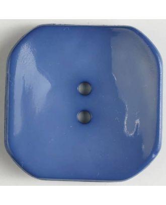 Kunststoffknopf Viereck mit 2 Löchern - Größe: 40mm - Farbe: blau - Art.Nr. 404605