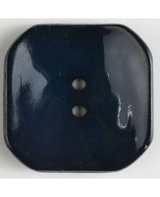 Kunststoffknopf Viereck mit 2 Löchern - Größe: 40mm - Farbe: marineblau - Art.Nr. 400162