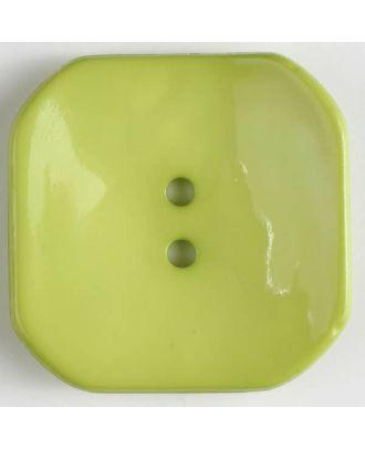 Kunststoffknopf Viereck mit 2 Löchern - Größe: 40mm - Farbe: grün - Art.Nr. 404606