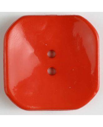 Kunststoffknopf Viereck mit 2 Löchern - Größe: 40mm - Farbe: rot - Art.Nr. 400163