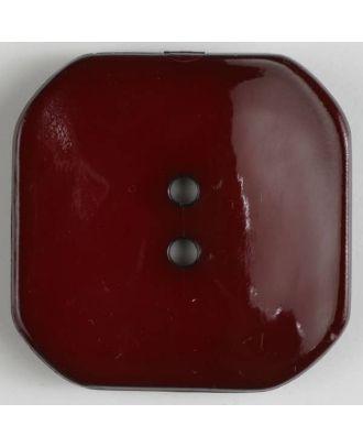 Kunststoffknopf Viereck mit 2 Löchern - Größe: 40mm - Farbe: rot - Art.Nr. 404609