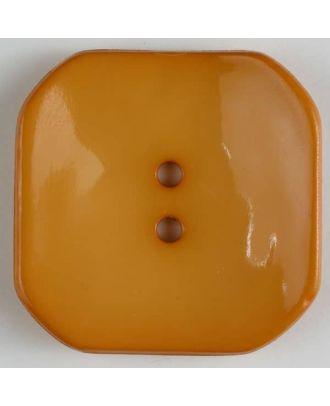 Kunststoffknopf Viereck mit 2 Löchern - Größe: 40mm - Farbe: orange - Art.Nr. 404610