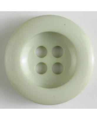 Polyesterknopf leicht glänzend, mit breitem Rand, 4-loch - Größe: 34mm - Farbe: grün - Art.Nr. 375623